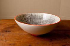 Odilon Serving Bowl by Young Alexander Homemaking, Serving Bowls, Hand Painted, Tableware, Kitchen, Etsy, Dinnerware, Cooking, Home Economics