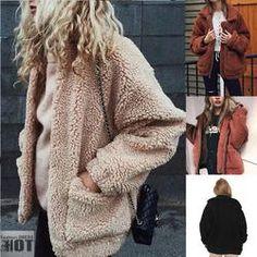 0ff8e8e3149fe Autumn Winter Warm Soft Zipper Fur Jacket Plus Size Furry Coat Soft  Leather