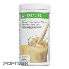 Herbalife (χερμπαλαιφ) θρεπτικό πρωτεϊνούχο ρόφημα formula 1 για έλεγχο βάρους και υγιεινή διατροφή. Ένα πλήρες, υγιεινό γεύμα με πρωτεΐνη σόγιας και ορού γάλακτος, βιταμίνες, μέταλλα και ιχνοστοιχεία.