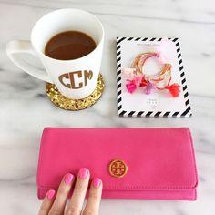 Tory Burch pink wallet ♡