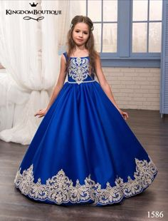 Cheap vestido, Buy Quality gown dress directly from China gown cover Suppliers: 2017 Royal Blue Flower Girl Dresses O-Ncek Appliques Sleeveless Ball Gown Formal Bow Sashes First Communion Gowns Vestidos Longo Inexpensive Wedding Dresses, Affordable Bridesmaid Dresses, Cheap Prom Dresses, Cute Dresses, Party Dresses, Short Dresses, Wedding Flower Girl Dresses, Flower Girls, Flower Dresses