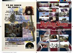 Revista Rolling stones : Viagem e musica (capa e contra capa)