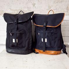 WONDER BAGGAGE ワンダーバゲージ / Goodmans backpack : navy black グッドマンズ バックパック ネイビー ブラック - struct