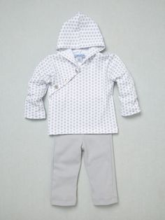 Feather Baby Boys Kimono Hoodie & Pant Set