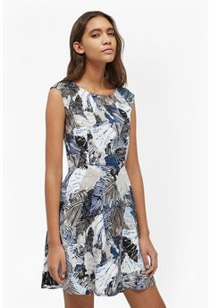 Lala Palm Fit and Flare Dress