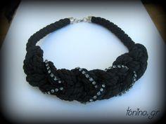 K05c-W14 Crochet Necklace, Necklaces, Winter, Jewelry, Fashion, Winter Time, Moda, Jewlery, Jewerly
