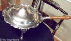GORHAM SILVER MELROSE RONDO LG CHAFING DISH SERVING TRAY SET - VIEW ALL OUR LOTS