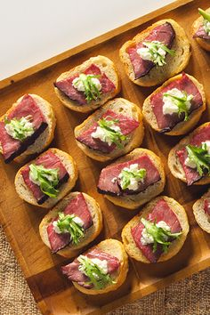 Dietz & Watson Crostini with Beef Tenderloin & Horseradish is a delicious party appetizer.