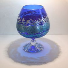 Blue Glass - Anna Mazek McDermott A work in progress, with a little more done on the base.  http://annamazek.co.uk