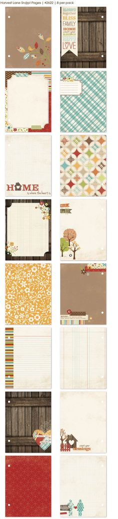 Harvest Lane Album Pages Also a new Snap Simple Stories