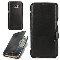Samsung Galaxy S7 Handyhülle von original Urcover® in der Echt Leder Series Edition Galaxy S7 Schutzhülle Case Cover Etui Schwarz Black 29,90€