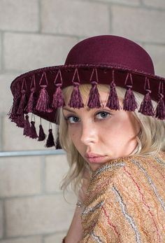 Sophia Hat in Wine by Brixton at The Freedom State