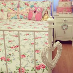My shabby chic vintage Cath Kidston Laura Ashley bedroom.
