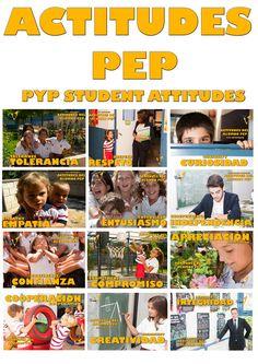 Actitudes de un alumno PEP , PYP attitudes, colegio El Valle Alicante, IB, Educación, Internacional. Alicante, Profile, Poster, International Baccalaureate, Spanish Vocabulary, Planters, Attitude, Hair Style, Exhibitions