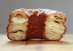 Alas, I have never tasted an authentic cronut (croissant-doughnut hybrid) from Dominique Ansel's NYC bakery, only its Los Angeles knock-offs. Ansel is also the guy who created a chocolate chip cookie … Donut Recipes, Copycat Recipes, Cooking Recipes, Meat Recipes, Appetizer Recipes, Recipies, Dessert Recipes, Cronut Recipe From Scratch, Gastronomia