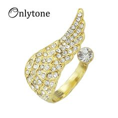 White Color Alloy Imitation diamond Rings for Women Vivid Graceful Summer Fashion