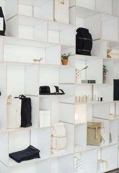 Thisispaper Shop is furnished with Ivy Shelf by @tylko, customized by our team and produced locally.