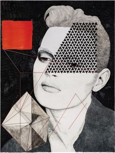 Anna Higgie Mixed Media drawing for the Tribeca branch of American Cut. Paint Photography, Indoor Photography, Frida Art, A Level Art, Creative Portraits, Quilting Designs, Design Art, Design Ideas, Graphic Design