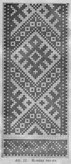 latviskie cimdi - Google Search Inkle Weaving, Inkle Loom, Tablet Weaving, Quilt Patterns Free, Loom Patterns, Beading Patterns, Stitch Patterns, Knitting Charts, Knitting Stitches