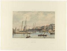 Waaigat en stadswal van Willemstad, jonkheer Jacob Eduard van Heemskerck van Beest, 1860 - 1862