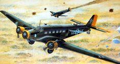1941 Junkers Ju-52 over Crete