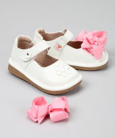 Take a look at this Mooshu Trainers White Mary Squeaker Jane by Mooshu Trainers & MadieJane on #zulily today!