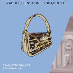 A preview of the Fendi 3Baguette personalized by Rachel Feinstein for a charity auction in celebration of the Madison Avenue boutique opening