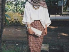 Pencil skirt with hijab