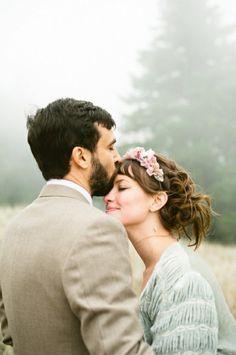Sweet wedding photo.