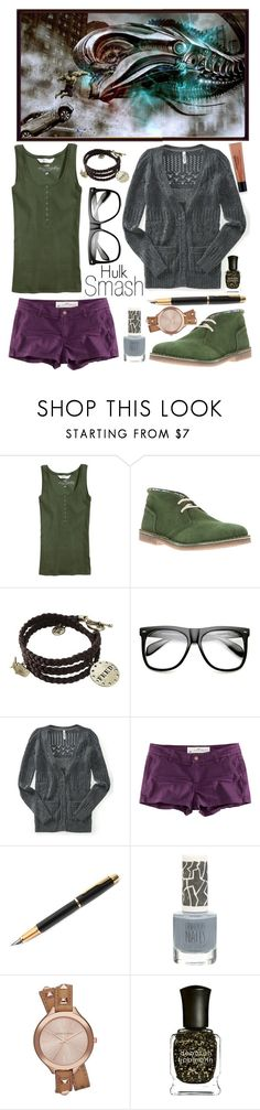 """""""Day 7) Favorite official art - Hulk and the Chitari Serpent"""" by totallytrue ❤ liked on Polyvore featuring H&M, Roberto Catani, INDIE HAIR, Aéropostale, Fountain, Topshop, Michael Kors, Deborah Lippmann, philosophy and Avengers"""