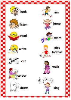 English Activities For Kids, English Grammar For Kids, English Worksheets For Kindergarten, Learning English For Kids, Teaching English Grammar, 2nd Grade Worksheets, English Lessons For Kids, Kids Math Worksheets, English Verbs