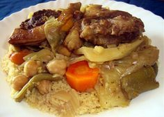 Couscous De Cordero En Olla Express Breakfast Lunch Dinner, Latin Food, Pot Roast, Salad Recipes, Crockpot, Beef, Cooking, Ethnic Recipes, Drink