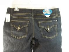 Angels Blue Jeans Size 19 Short Stretch Dark Wash Low Rise Flare Bottom  #Angels #Flare