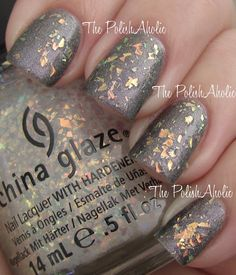 China Glaze - Luxe and Lush (Hunger Games collection Edit: failure, found this on a blog and you must have an A England color for this to look right. I don't have the dupe. It looked like broken glass in cement, not near as lovely as this.