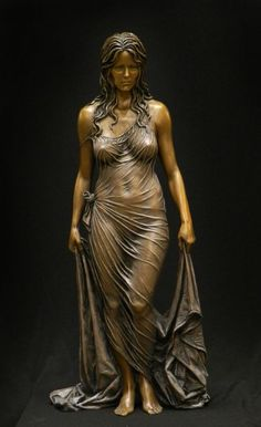 """""""Bathsheba"""" , sculpture by benjamin victor   Bronze, 1/3 life size, 2013."""