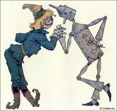 Scarecrow and Tin Woodman  of Oz, illustrated by John R. Neill