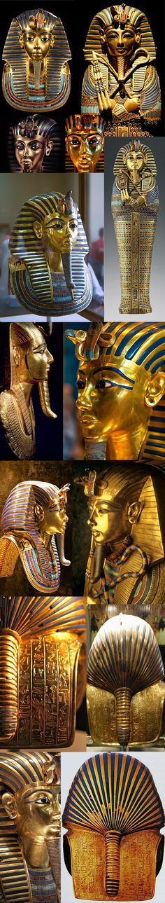 Only three pairs are the real burst of pharaoh tutankamun.The rest are modern fakes..guess which ones..