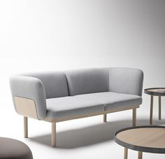 Designed by Iratzoki & Lizaso, the Egon Collection is composed of a sofa system, pouffes and coffee tables. Placed side by side, they create a pleasant relaxation area.