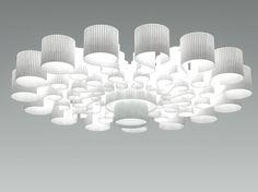 Plafonnier LED NAPITIA by Olev by CLM Illuminazione design Remy Camoin