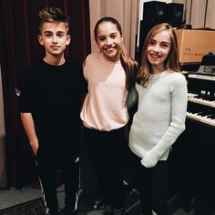 So cool! Kenzie with Lauren and Johnny Orlando