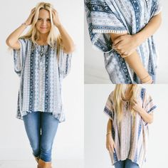 This boho tunic has me hoping for spring  and dreaming of summer ☀️!! Such a fun top and super flattering on! Only $21.99