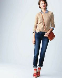 J.Crew February Style Guide 2014 #redshoes