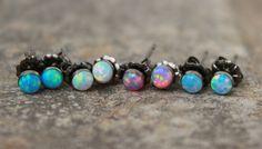 Ohrring OPAL Ohrring Opal STUD zierlich Opal von galwaydesigns