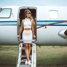 Gingham Sorbet Reversible Crop - LIMITED (AU $45AUD / US $30USD), Jet Set Mini Skirt - LIMITED (AU $60AUD / US $40USD) by Black Milk Clothing