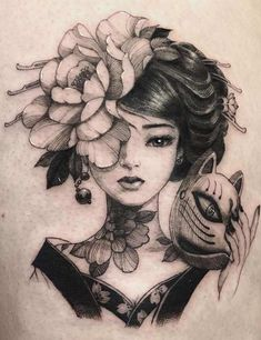 23 Best Japanese Tattoo Designs And Ideas With Meanings The unique artistic style and technique used for Japanese tattoos are what set them apart from regular tattoos. They are well-known all over the world. Geisha Tattoos, Geisha Tattoo Design, Japan Tattoo Design, Irezumi Tattoos, Geisha Tattoo Sleeve, Portrait Tattoo Sleeve, Oni Tattoo, Japanese Tattoo Words, Japanese Tattoo Meanings