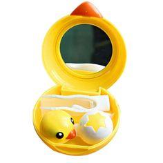 Amazon.com : Hee Grand Cute Duck Shape Contact Lens Case Yellow : Beauty