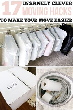 i am seriously obsessed with these moving hacks! learned so much and will definitely be using these moving tips as i pack up my house New Home Checklist, Apartment Checklist, Apartment Hacks, Moving Checklist Printable, Moving House Checklist, Apartment Therapy, Moving House Tips, Moving Home, Moving Day