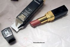 Chanel Rouge Coco Shine in #67 Deauville ($32). A bit too dark and brown for me.