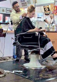 Barber Chair, Barbershop, My Hair, Hair Cuts, Hair Beauty, Action, Floor, Hair, Places
