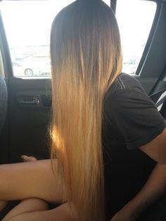 Straight blond
